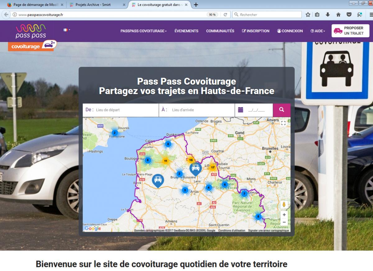 Image passpasscovoiturage.fr : Le SMIRT vous propose de partager vos trajets en Hauts-de-France !